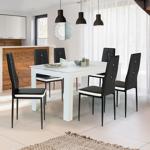 IDMarket  Lot de 6 chaises ROMANE noires bandeau blanc avec strass pour... par LeGuide.com Publicité