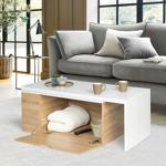 IDMarket  Table basse rotative bois et blanc 360° LIZZI extensible avec... par LeGuide.com Publicité