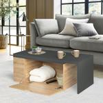 IDMarket  Table basse rotative bois et gris 360° LIZZI extensible avec... par LeGuide.com Publicité