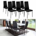 IDMarket  Lot de 6 chaises ROMANE noires pour salle à manger   Elégantes... par LeGuide.com Publicité