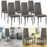 IDMarket  Lot de 6 chaises ROMANE grises pour salle à manger   Elégantes... par LeGuide.com Publicité