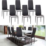 IDMarket  Lot de 6 chaises ROMANE noires bandeau blanc pour salle à manger... par LeGuide.com Publicité