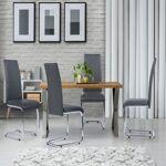 IDMarket  Lot de 4 chaises Mia grises pour salle à manger   Laissez entrer... par LeGuide.com Publicité