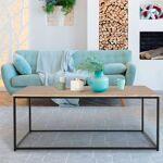 IDMarket  Table basse DETROIT design industriel bois et métal noir... par LeGuide.com Publicité