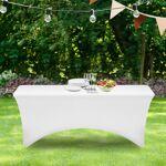 IDMarket  Housse blanche pour table pliante 180 CM   Apportez une finition... par LeGuide.com Publicité