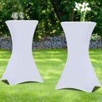 IDMarket  Housse blanche x2 pour table haute pliante 105 cm   Recevez... par LeGuide.com Publicité
