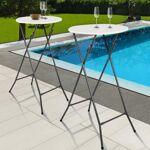 IDMarket  Lot de 2 tables hautes 105 cm pliantes   Lors de vos événements,... par LeGuide.com Publicité