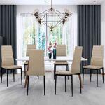 IDMarket  Lot de 6 chaises ROMANE taupes pour salle à manger   Descriptif... par LeGuide.com Publicité