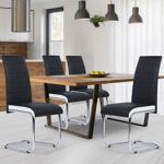 IDMarket  Lot de 4 chaises Mia noires liseré blanc pour salle à manger... par LeGuide.com Publicité