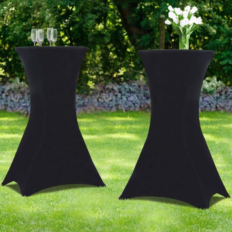 IDMarket Housse noire x2 pour table haute pliante 105 cm