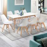 IDMarket  Table scandinave extensible INGA 160-200 CM blanche   Le style... par LeGuide.com Publicité