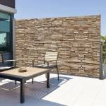 IDMarket  Paravent extérieur rétractable 300 x 160 cm motif pierre... par LeGuide.com Publicité