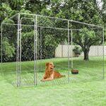 IDMarket  Chenil grillagé 4x2 m pour chiens 8 m²   Offrez à vos compagnons... par LeGuide.com Publicité