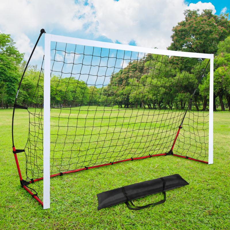 IDMarket But de foot portable extérieur cage 240 cm et sac de transport