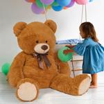 IDMarket  Ours en peluche géant 100 cm brun   Vous voulez faire plaisir... par LeGuide.com Publicité