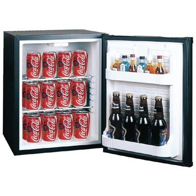 POLAR Minibar réfrigéré d'hôtel noir 30 litres