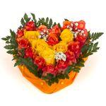 roses d antibes  Roses d'Antibes DUO ORANGE ET JAUNE Très joli coeur... par LeGuide.com Publicité