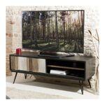 so inside  SO INSIDE Meuble TV industriel bois massif et métal noir Alice... par LeGuide.com Publicité