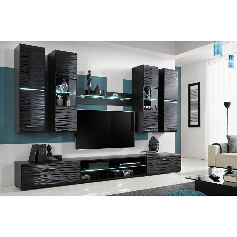 SO INSIDE Ensemble TV Noir brillant effet 3D Boréal