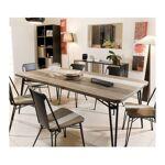 so inside  SO INSIDE Table à manger bois massif et métal 200x100cm Alice... par LeGuide.com Publicité