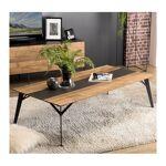 so inside  SO INSIDE Table basse design industriel teck recyclé et métal... par LeGuide.com Publicité