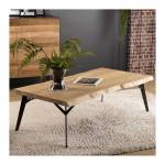so inside  SO INSIDE Table basse design industriel chêne et métal 130x70cm... par LeGuide.com Publicité