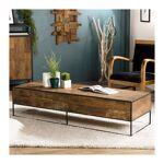 so inside  SO INSIDE Table basse rectangulaire industrielle teck et métal... par LeGuide.com Publicité