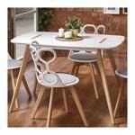 so inside  SO INSIDE Table de salle à manger 120 X 80 cm blanche avec pieds... par LeGuide.com Publicité