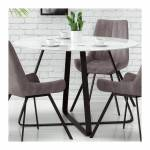 so inside  SO INSIDE Table ronde 115 cm plateau verre blanc pieds acier... par LeGuide.com Publicité