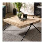 so inside  SO INSIDE Table basse carrée en bois de manguier et pieds compas... par LeGuide.com Publicité