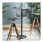 so inside  SO INSIDE Table de bar ronde avec plateau en zinc et pied en... par LeGuide.com Publicité