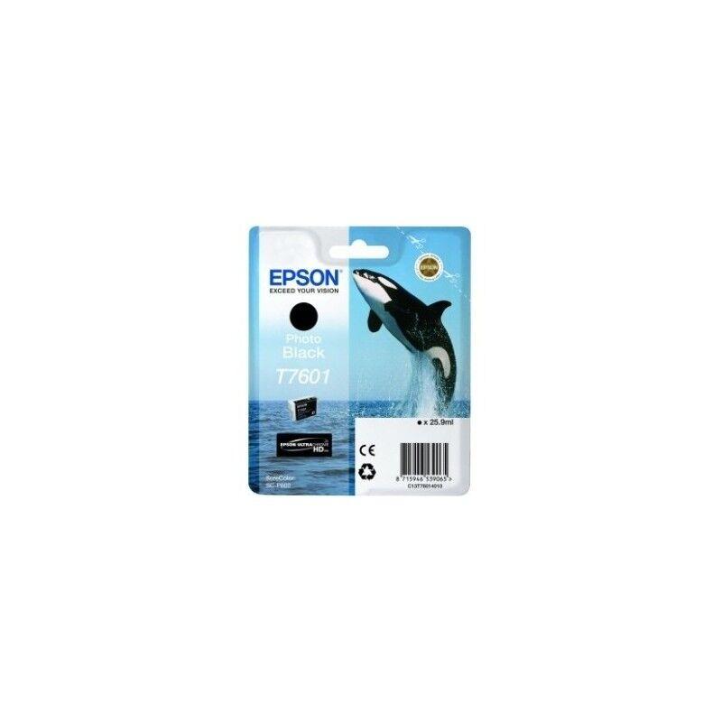 Epson Cartouche Encre Noire photo pour EPSON SureColor SC-P600 (T7601) (Orque)