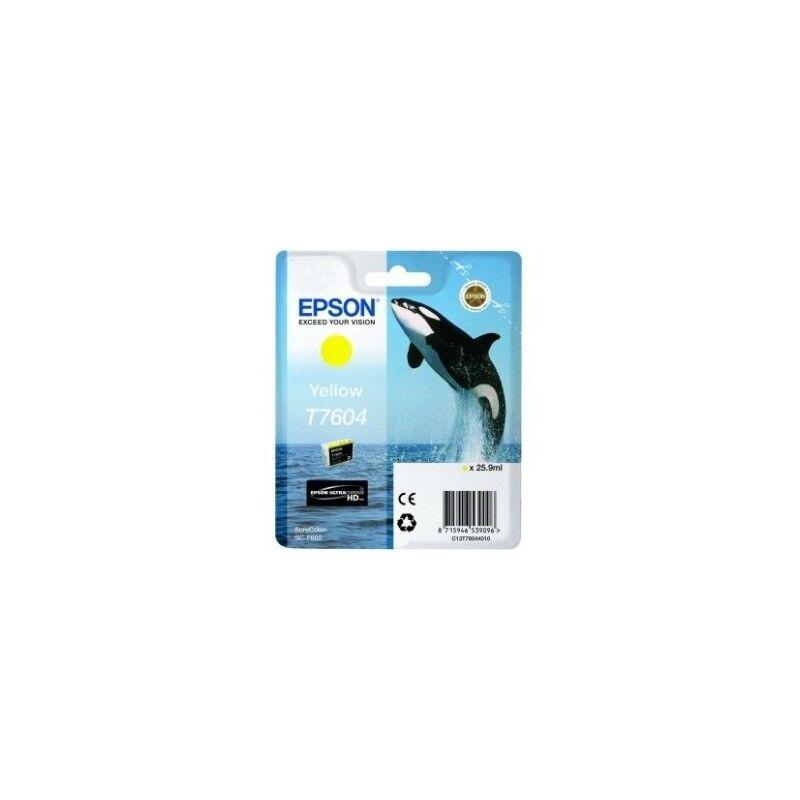 Epson Cartouche Encre Jaune pour EPSON SureColor SC-P600 (T7604) (Orque)