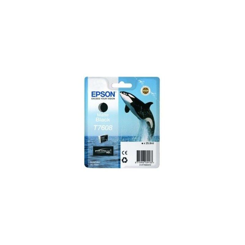Epson Cartouche Encre Noir matte pour EPSON SureColor SC-P600 (T7608) (Orque)