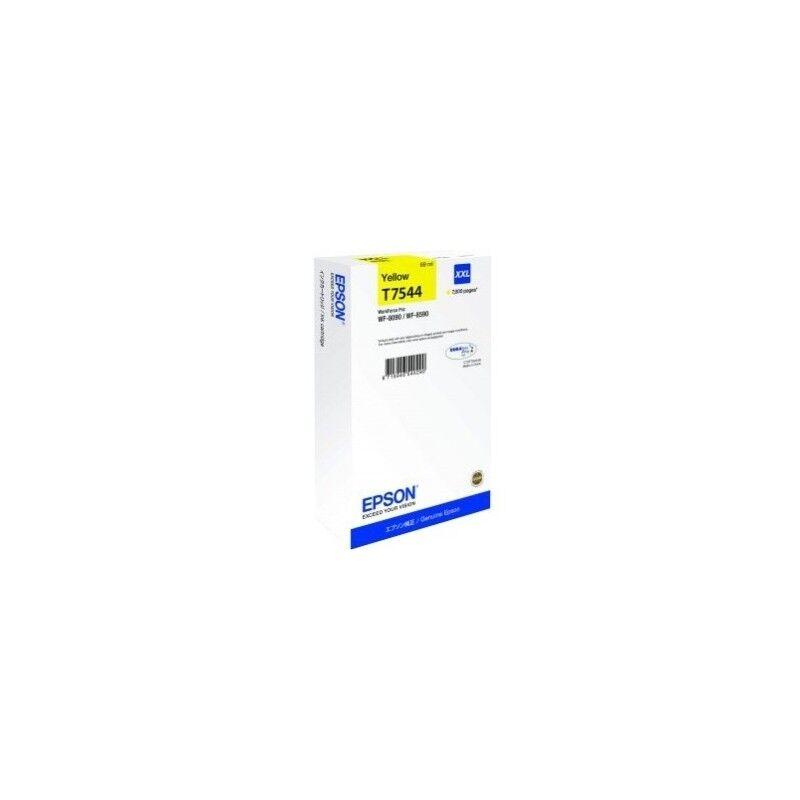 Epson Cartouche Jaune Epson Tres Haute Capacité pour WorkForce 8090dw / 8590dwf...(T7544XXL)