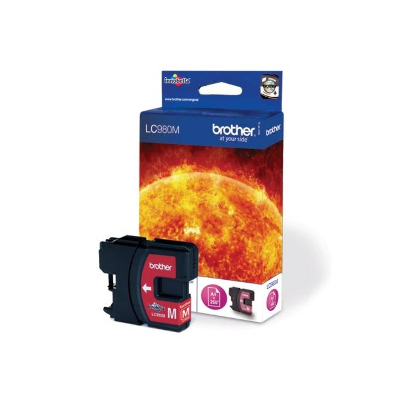 Brother Cartouche d'encre magenta Brother LC980M pour DCP 145C / DCP165C