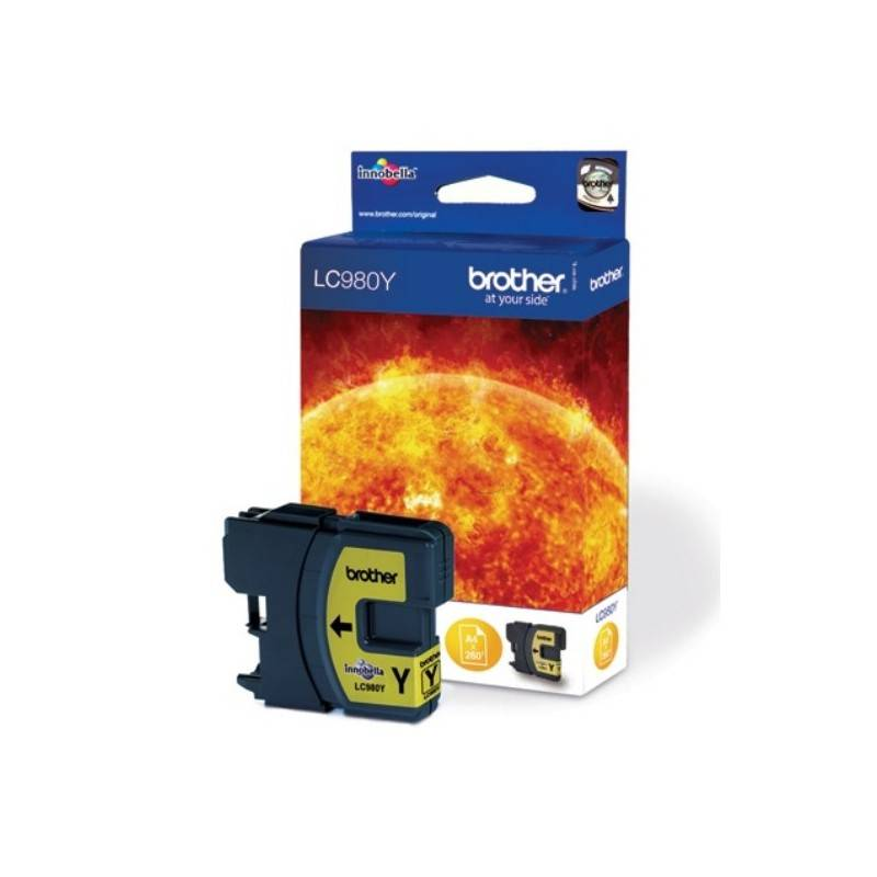 Brother Cartouche d'encre jaune Brother LC980Y pour DCP 145C / DCP165C