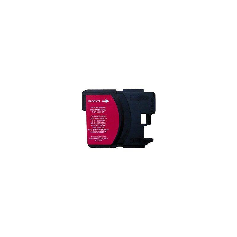 Brother Cartouche magenta haute capacité générique pour Brother (compatible LC1100, LC980)
