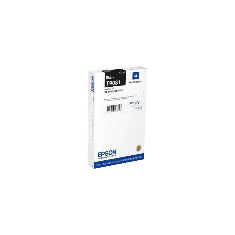 Epson Cartouche Noire XL Epson Haute Capacité pour WorkForce pro WF 6590 / WF 6090 (T9071)