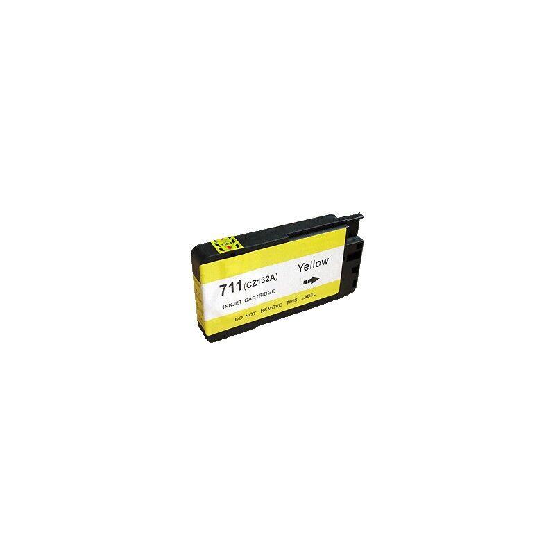 HP Cartouche d'encre générique jaune pour HP Designjet T520 ePrinter / T120 (N°711)