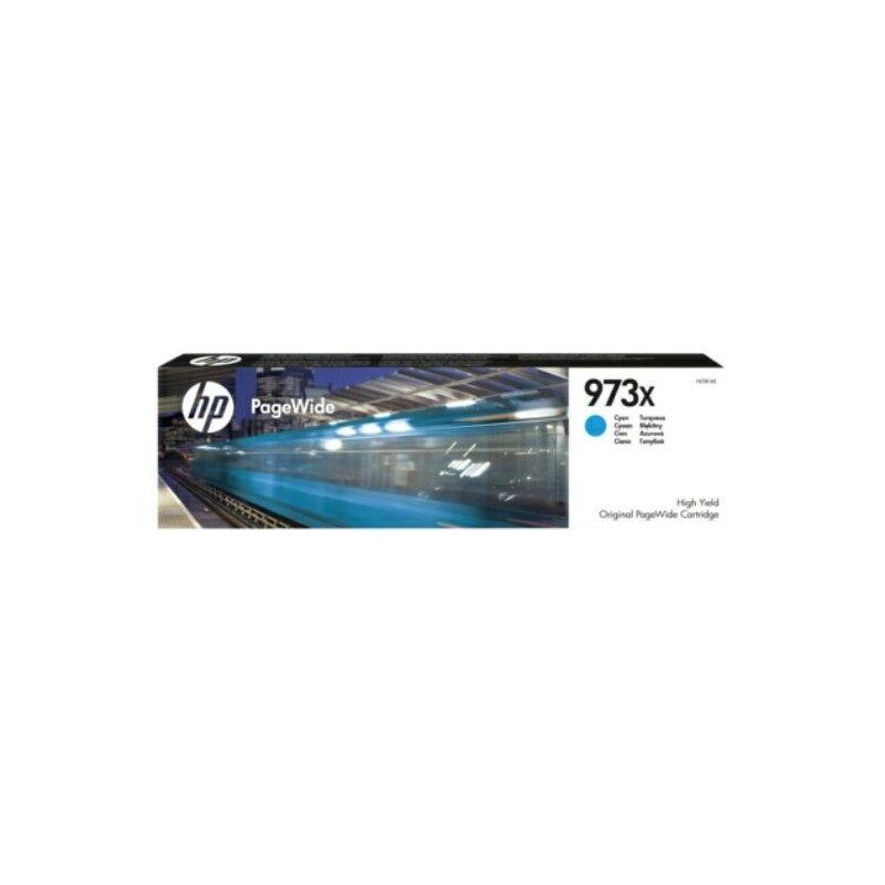 HP Cartouche jet d'encre Cyan Haute Capacité HP pour PageWide : Pro 452dw / 477dw ....(N°973X)