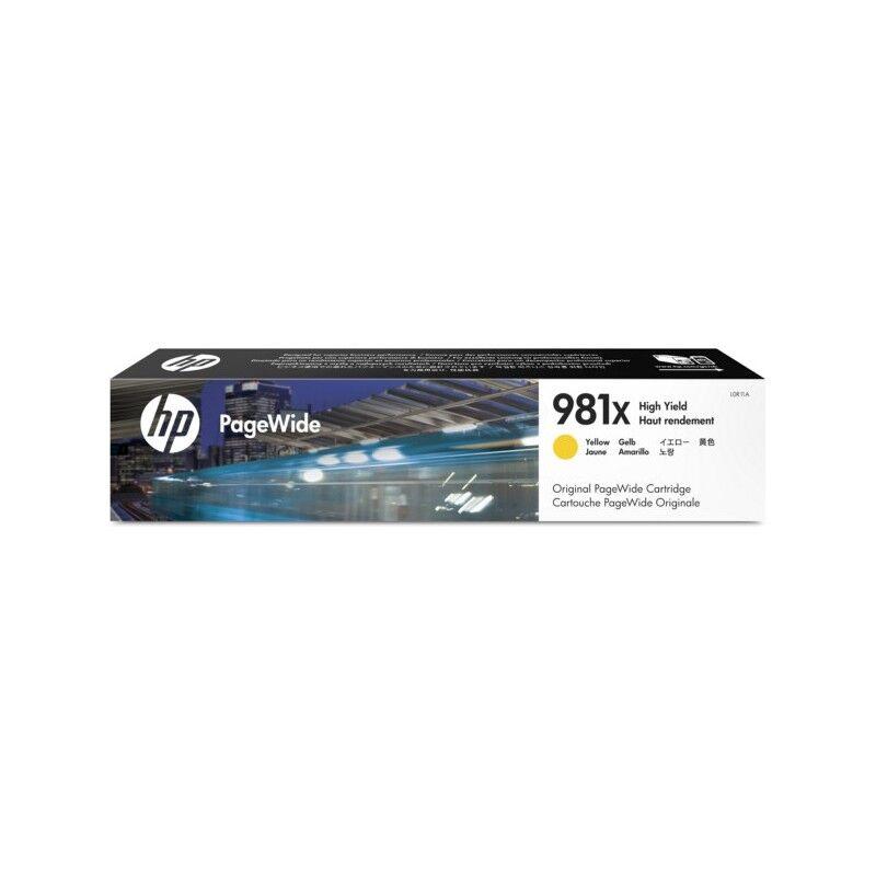 HP Cartouche jet d'encre Jaune Haute Capacité HP pour PageWide Enterprise 556 dn / xh ... (N°981X)