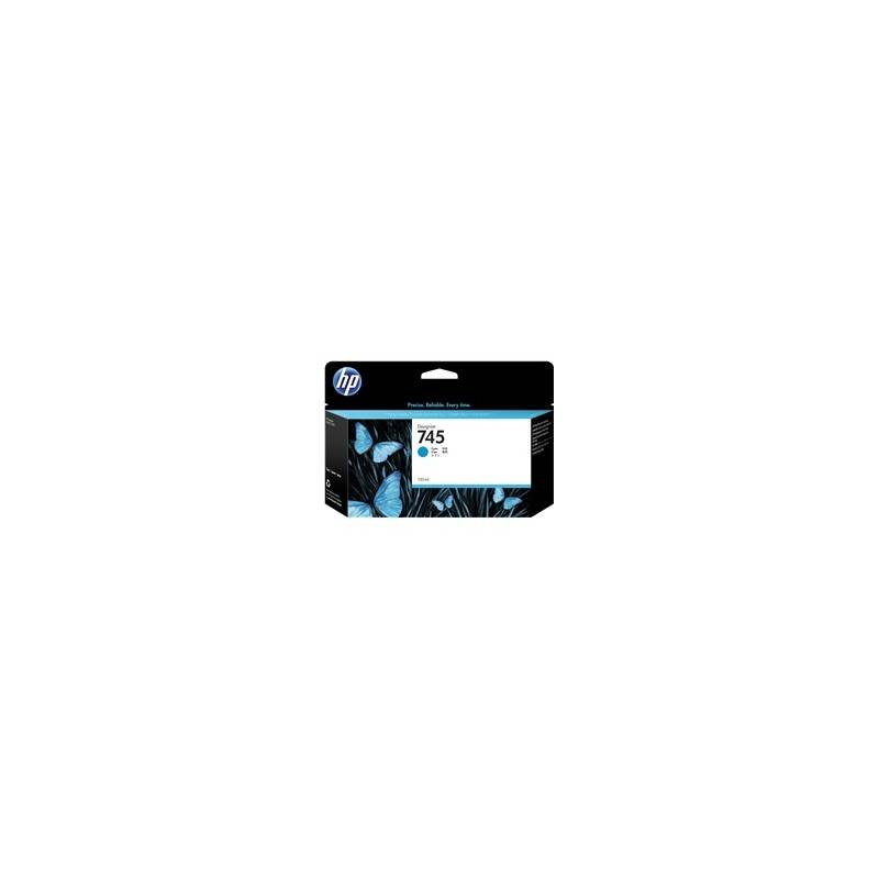 HP Cartouche d'encre HP DesignJet Z2600 / Z5600 Cyan (N°745), 130ml