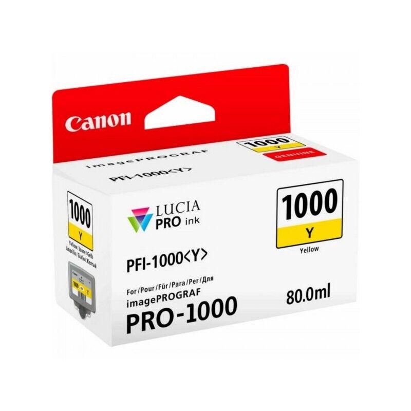 Canon Cartouche Jet d'encre Jaune CANON (80 ml) pour Imprimante Jet d'encre- Capacité 3365 pages