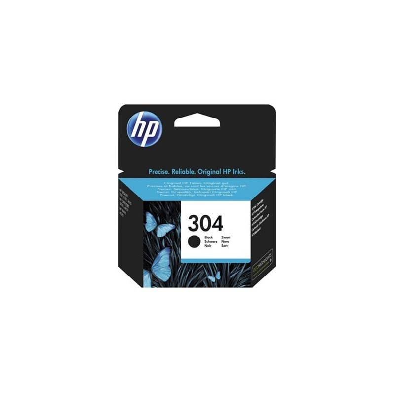 HP Cartouche Jet d'encre N°304 Noir HP (4ml)