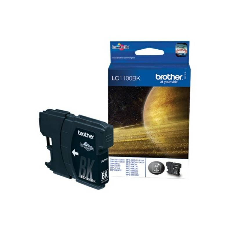 Brother Cartouche noire Brother pour MFC-6490CW / DCP-6690CW / DCP585CW (LC1100BK)