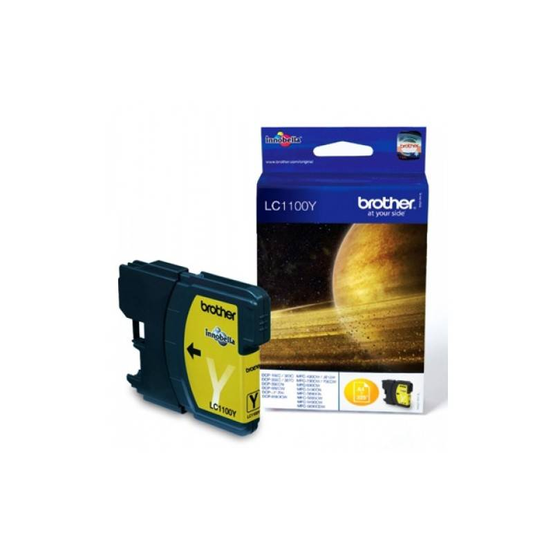Brother Cartouche jaune Brother pour MFC-6490CW / DCP-6690CW / DCP585CW (LC1100Y)