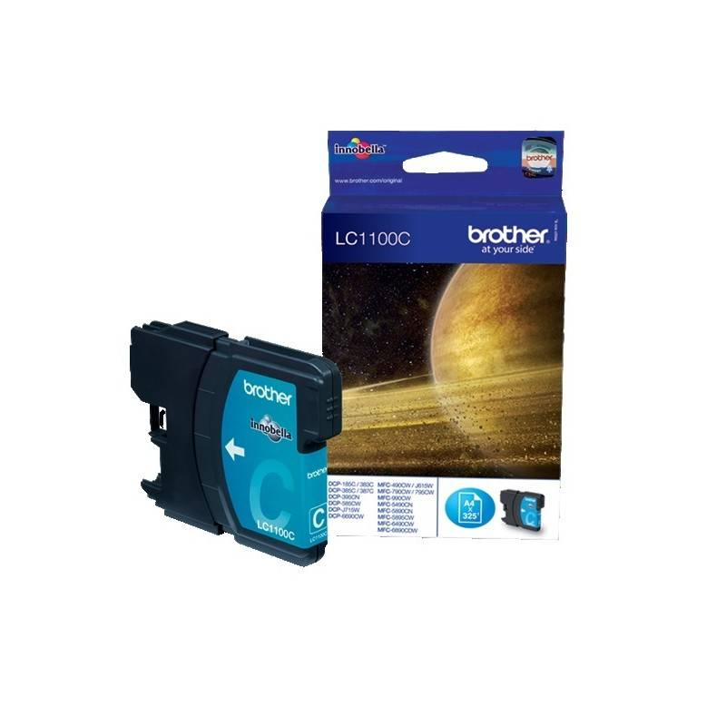 Brother Cartouche cyan Brother pour MFC-6490CW / DCP-6690CW / DCP585CW (LC1100C)