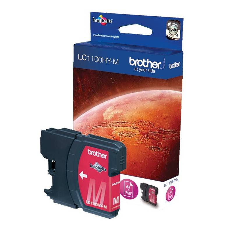 Brother Cartouche magenta Haute capacité Brother pour MFC-6490CW (LC1100HYM)