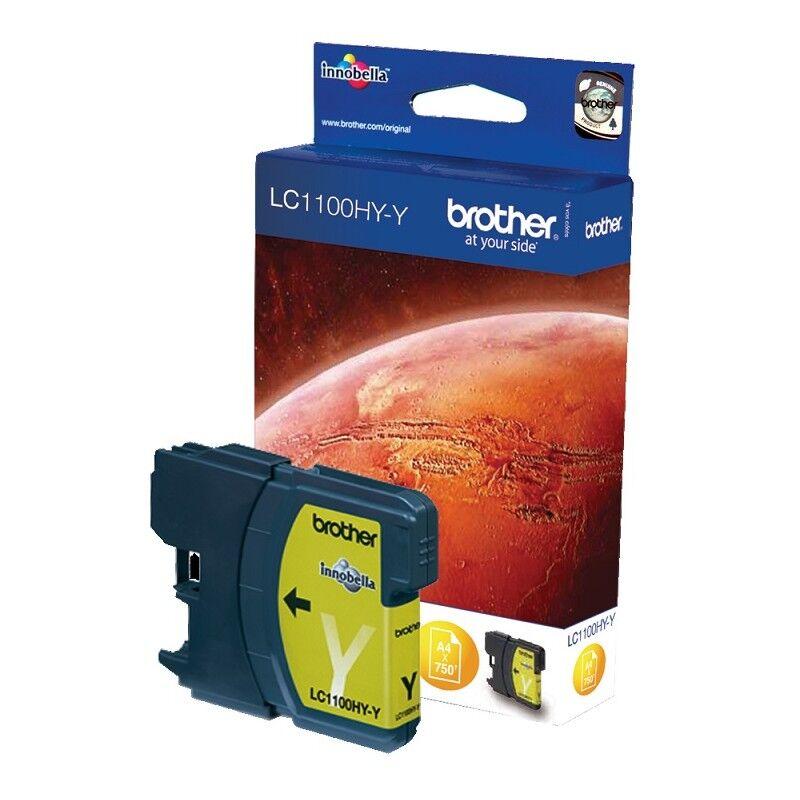 Brother Cartouche jaune Haute capacité Brother pour MFC-6490CW (LC1100HYY)